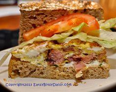 Ham Frittata Sandwich- fast meal idea!