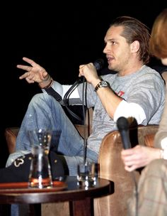 tomhardyvariations:    Again from the Bronson screening. This makes me think of Mad Max. That is, Tom Hardy as Mad Max. In boots. On wheels. Packing massive guns.With swept-back hair. Shirt-free at a some juncture (this, by law). Kicking a freaking legion of ass. X-P. I guess you can tell I'm really looking forward to Max. Don't judge me.    ^  THIS.