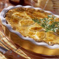 Découvrez la recette Tourte paysanne sur cuisineactuelle.fr. Tofu, Tapas, French Dishes, Baked Fish, Antipasto, Dessert Recipes, Desserts, Apple Pie, Entrees