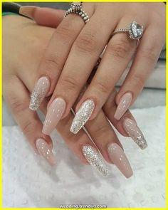 79 Very Inspiring Acrylic Nail Designs Ideas To… Trending Ballerina. 79 Very Inspiring Acrylic Nail Designs Ideas To… Trending Ballerina nails designs nails ideas Cute Acrylic Nail Designs, Colorful Nail Designs, Silver Nail Designs, Nail Designs With Glitter, Acrylic Nails With Design, Shellac Nail Designs, Colorful Nails, Glitter Nail Art, Red Glitter