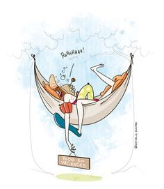 Do not disturb - Sieste processing Cute Cartoon Drawings, Girly Drawings, Funny Illustration, Photo Illustration, Funny Cards, French Art, Illustrations And Posters, Girl Humor, Illustrators