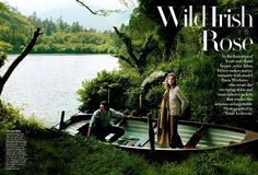 Finally, little ol' Ireland makes it to Vogue – starring Daria Werbowy and Adam Driver   Fash Mob
