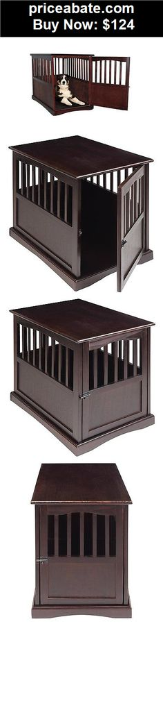 Animals-Dog: Dog Kennel Wood Pet Cage Crate House Doghouse Puppy Cat Bed Furniture End Wooden - BUY IT NOW ONLY $124