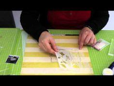 Faire un tamponnage en deux parties à l'aide d'un repositionneur, poser du talc avant un embossage à chaud pour que la poudre n'hadère pas à côté du motif encré - tutoriel : Arrêt sur image n°5 - YouTube