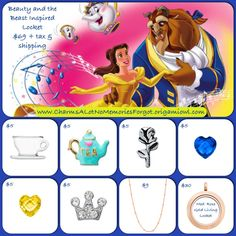 Disney's Beauty and the Beast, Princess Belle inspired locket!!  @ www.asaylor.origamiowl.com  Thanks!