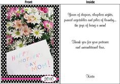 Mother's Day Card! Give your mom flowers and a Big Funny Card! Available in 2', 3', and 4' sizes. FREE SHIPPING!