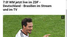 Alemania 7 - Brasil 0 : los diarios de Alemania