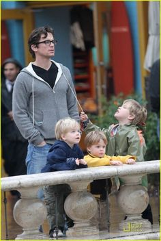 Matt Bomer and his sons. I have a soft spot for young guy celebs and their cute kids... talk about a cool dad!
