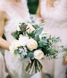 spring green and white bouquet
