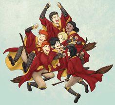 Gryffindor Quidditch Victory Art Print