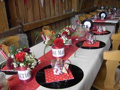 Rockabilly Hochzeit Tischdeko                              …