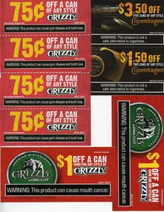 Grizzly tobacco coupons 2018