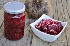 Salată de sfeclă roșie la borcan pentru iarnă - rețeta bunicii. Cum se face sfecla murată cu hrean pentru iarnă? Sfeclă roșie coaptă sau Canning Recipes, Beets, Preserves, Food Inspiration, Goodies, Easy Meals, Fine Dining, Canning, Salads