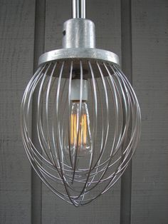 Upcycled Industrial Commercial Whisk Pendant, Perfect for over your kitchen sink, by Benclif Designs