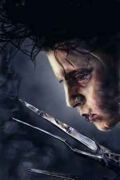 [Movie] Edward Aux Mains d'Argent Fan Art (Edward Scissorhands) - Johnny Depp -  by dctuck