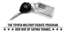 Toyota Military Rebate Program