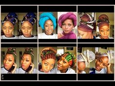 45 head wrap styles for the long, short, and loc'd