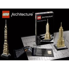 Lego Architecture Empire State Building - http://www.swiss-miss.com/wp-content/uploads/2009/11/518rlGvXuDL._SS500_.jpg - http://flypt.co/lego-architecture-empire-state-building/