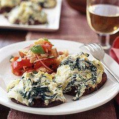 Stuffed Portobellos with Bread Salad