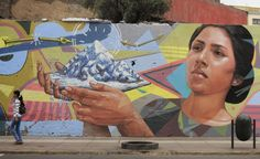 """El Decertor paints """"Climatic Utopia"""", his new mural on the streets of Lima in Peru"""