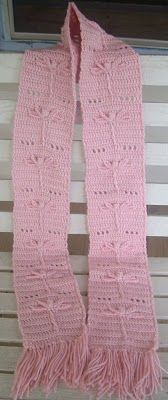 Cute crochet scarf.