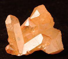 Beautiful Tangerine Aura Quartz Crystal Cluster