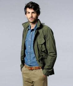 Men's Jackets To Own. Find out some great mens fashion. With so much style for guys to choose from these days, it can be a challenging encounter. Great Mens Fashion, Leather Jackets Online, Sharp Dressed Man, Field Jacket, Green Jacket, Olive Jacket, Style Blog, Military Fashion, Denim Shirt