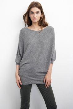 Gray matters: The Kizzy Cashmere Dolman Sweater.  http://velvet-tees.com/women/the-latest/grey-matters/kizzy-cashmere-dolman-sweater-1.html
