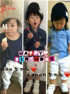今日 10月6日 大好きな 2人のお友達のお誕生日です☺️❤️ Maaちゃん❤️ 1歳✨✨ kano