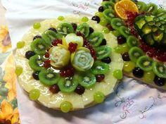 Decorazione crostata frutta