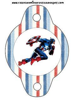 Imprimibles del Capitán América 4.