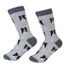 Border Collie Dog Breed Socks Unisex Sock Daddy by E&S Pets Dog Socks, Crew Socks, White Border Collie, Border Collies, Body Sock, Sock Animals, Collie Dog, Novelty Socks, Look Cool