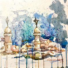 "84 Likes, 5 Comments - Lakshman Kabadi (@kabadiart) on Instagram: ""My Plein air painting. 23.4.17. #art_spotlight #artpeople_gallery #sketch  #pencil #contemporary…"""