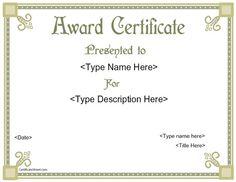 special certificate scholarship award certificatestreet com