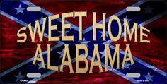 Sweet Home Alabama Novelty Metal License Plate