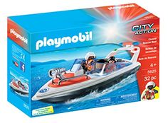 PLAYMOBIL 5625 Coastal Rescue Boat Playset PLAYMOBIL®