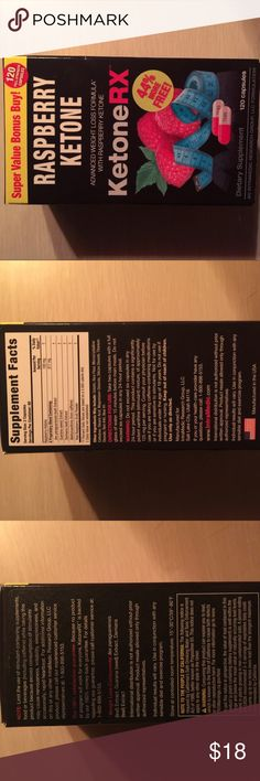 Ketone raspberry diet weight loss supplement new I love these. Bought extra so would like to sell before expiration date. Sealed new. Read photos for allergies etc. Yes they work. Noticed they curve cravings and my skin looks better. Not sure if it's from raspberry. Check all ingredients on pack. Firm price final sale. Posting for a short time only. Yes you can bundle with other items too. Beauty dress shoes jewelry etc... Thank you for shopping my posh closet. Other