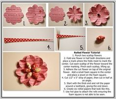 Tutorial Flower ... Uses paper beads. I make a paper bead roller that makes this easier than using a toothpick. Look up oneofakindgurl on Etsy.com