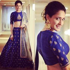 @jaiswalpragya stuns in our Royal Blue Lehenga at a recent award function! Congratulations on winning the award for the best debut actress! ❤️ Styled by the talented @geetikachadhaofficial ! Thank you :) #jayantireddy #jayantireddylabel #pragyajaiswal