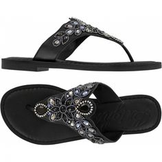 d5af89bdb983d Anju Anju Beaded Thongs Sandals