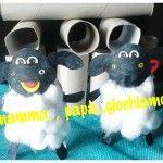 Rotoli di carta igienica che si trasformano in simpatiche pecorelle o timmy sheep