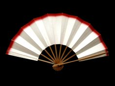 Japanese Dance Fan Red Cream Hand Fan Mai Ogi (F229) Hand Painted for Wedding, Party, Home Decor etc
