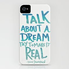 Bruce Springsteen Dream iphone case by Leah Flores