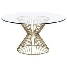 Gordes Round Dining Table, Brass - Dining Tables - Dining Tables - Dining Room - Furniture One Kings Lane Furniture Sale, Dining Furniture, Furniture Collection, Modern Furniture, Round Dining Table, Dining Room Table, Dining Rooms, Corner Table Designs, Home Design