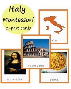 How To Produce Elementary School Much More Enjoyment Montessori Italy Cards European Country Printables Montessori Classroom Layout, Montessori Activities, Primary Classroom, Educational Activities, Italy Geography, Teaching Geography, Geography Activities, American History Lessons, Italy Map