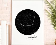 Modern Minimalist Colorful Printable by KitchenSinkPrintShop Wall Art Sets, Large Wall Art, Wall Art Prints, Vegetable Prints, White Wall Decor, Zodiac Constellations, Scandinavian Art, Decorating On A Budget, Poster Wall