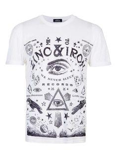 WHITE BURNOUT ZINC T-SHIRT - Men's T-shirts & Tanks - Clothing - TOPMAN USA