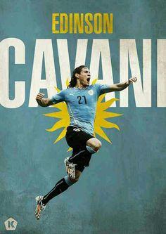 Edinson Cavani of Uruguay wallpaper.