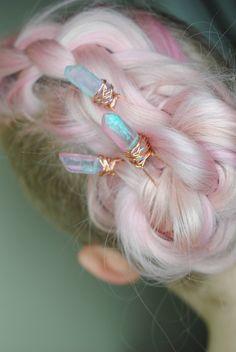 USA Bobby Pin Rhinestone Crystal Hair Clip Hairpin Jeweled Pretty Silver B42