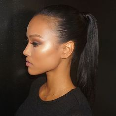 """Hrush Achemyan on Instagram: """"Snatched! Pony & Makeup by me for @karrueche at the launch of @vanityseries comment if you'd like to see product Deets. #styledbyhrush #baretobold"""""""